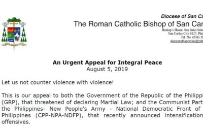 An Urgent Appeal for Integral Peace