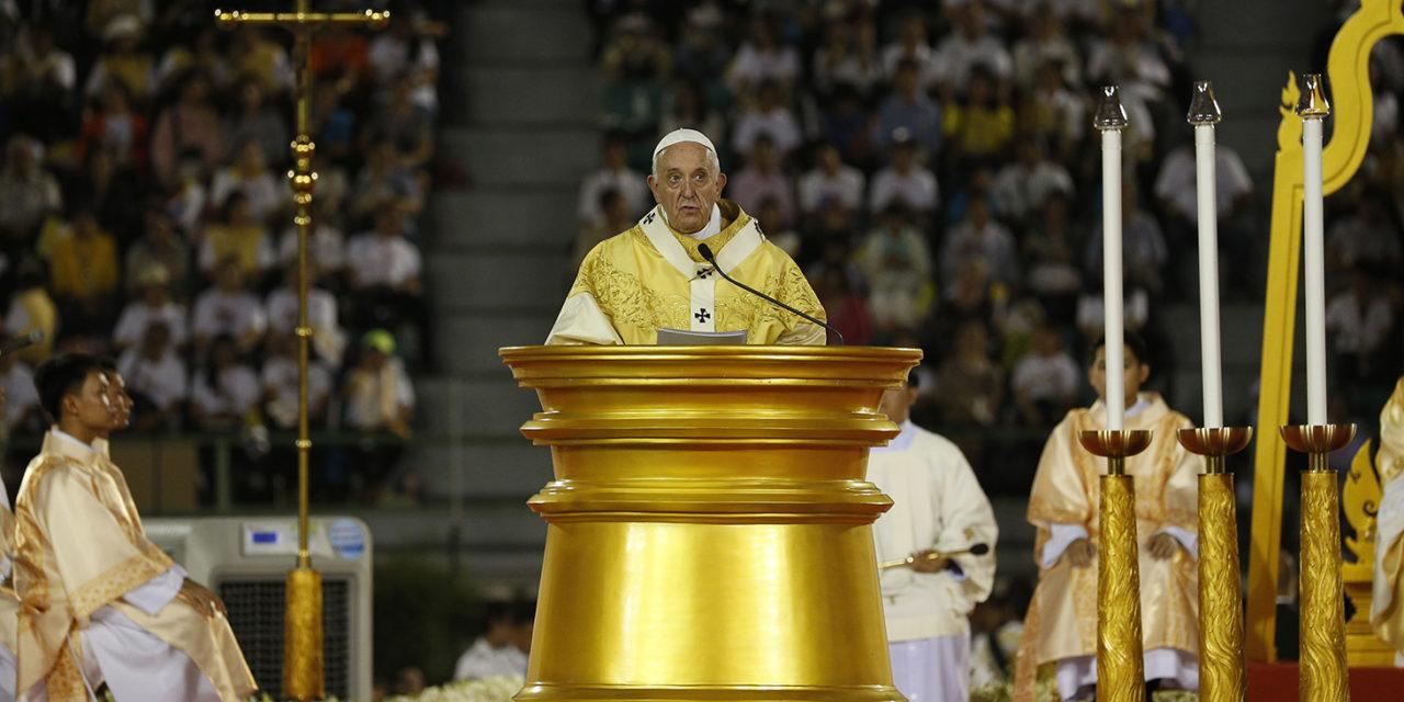 Pope Francis' homily at Mass at the National Stadium of Bangkok
