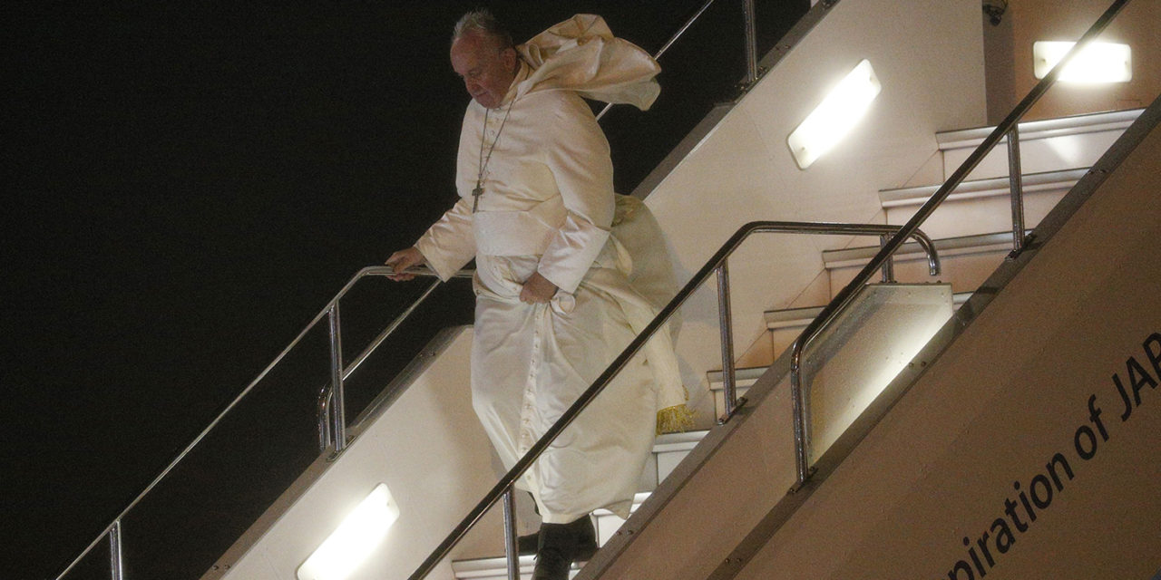 Pope arrives in Japan, fulfilling decades-old missionary dream