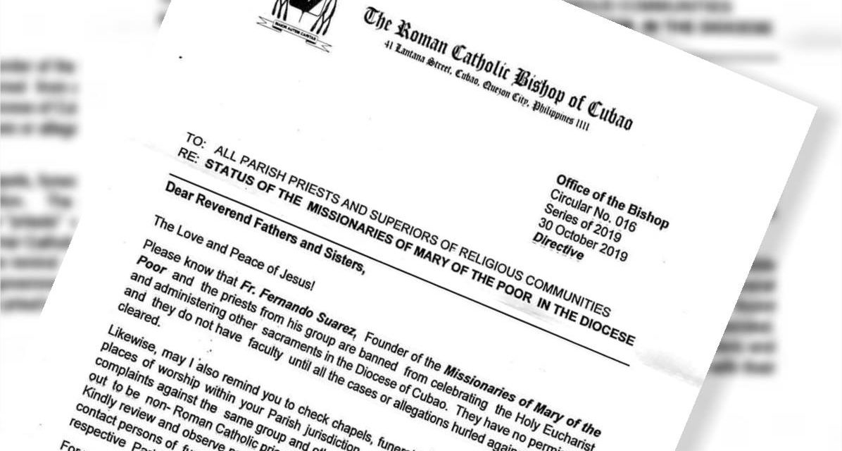 Cubao diocese bans 'healing priest' from public ministry
