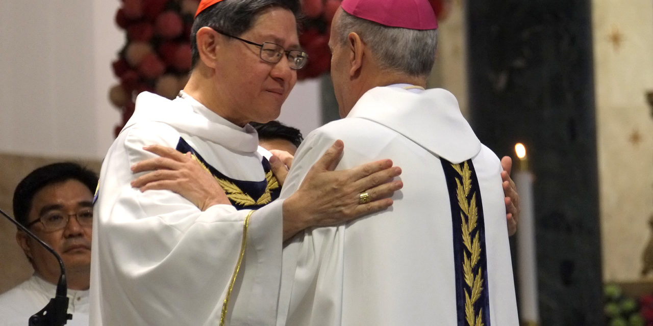 Emotional Cardinal Tagle: 'Thy will be done'