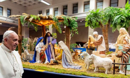 Pope Francis blesses 100 nativity scenes near the Vatican