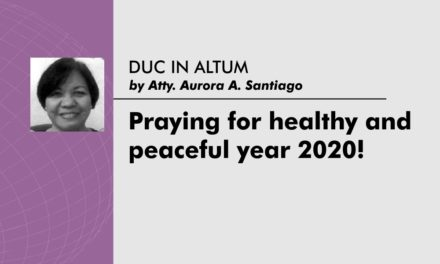 Praying for healthy and peaceful year 2020!