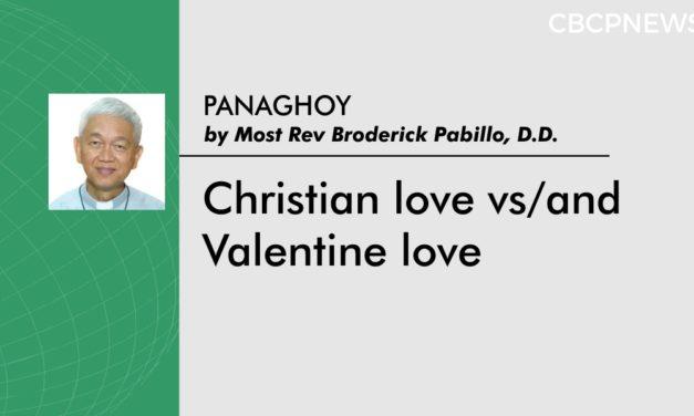 Christian love vs/and Valentine love