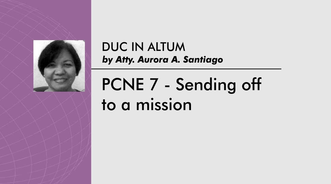 PCNE 7 – Sending off to a mission