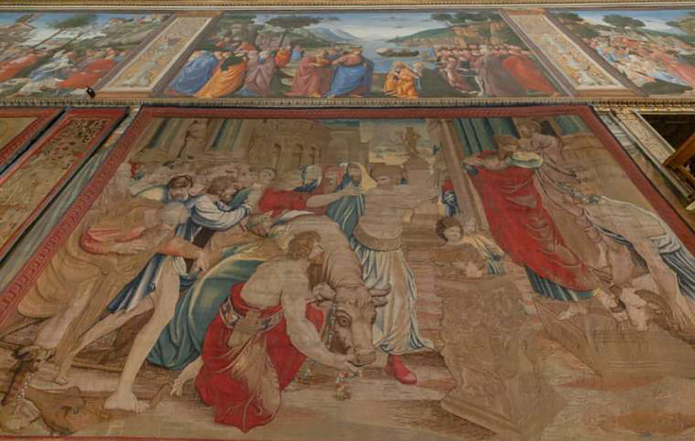 500 years later, Raphael tapestries rehung in Sistine Chapel