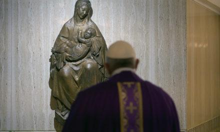 Pope entrusts world threatened by coronavirus pandemic to Mary