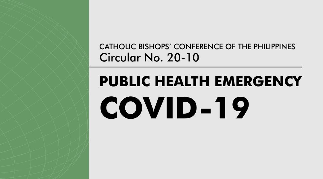 CBCP circular on public health emergency due to COVID-19