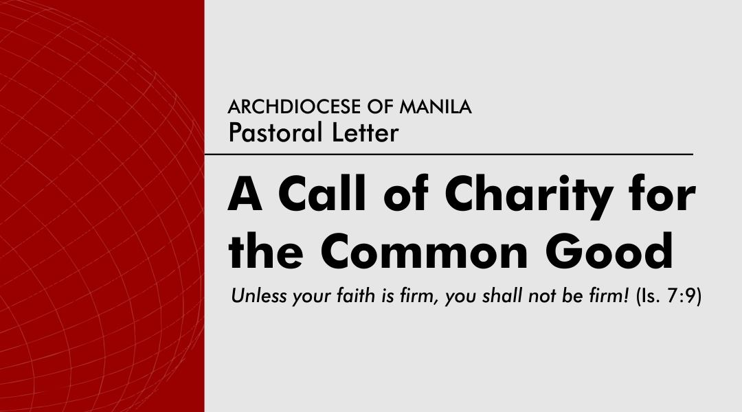 Pastoral Letter:  A Call of Charity for the Common Good