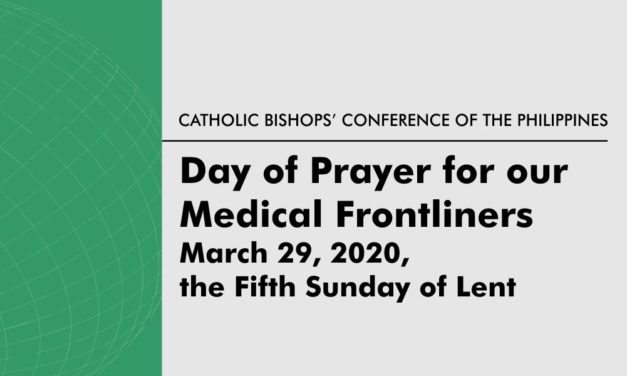A Call and Invitation to a Special Day of Prayer for our Frontline Medical Personnel