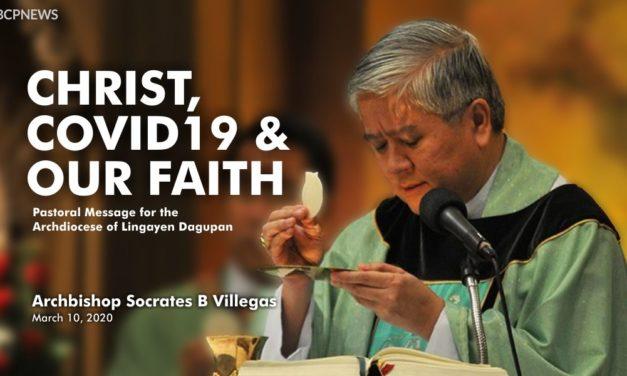 Christ, COVID-19 and our Faith