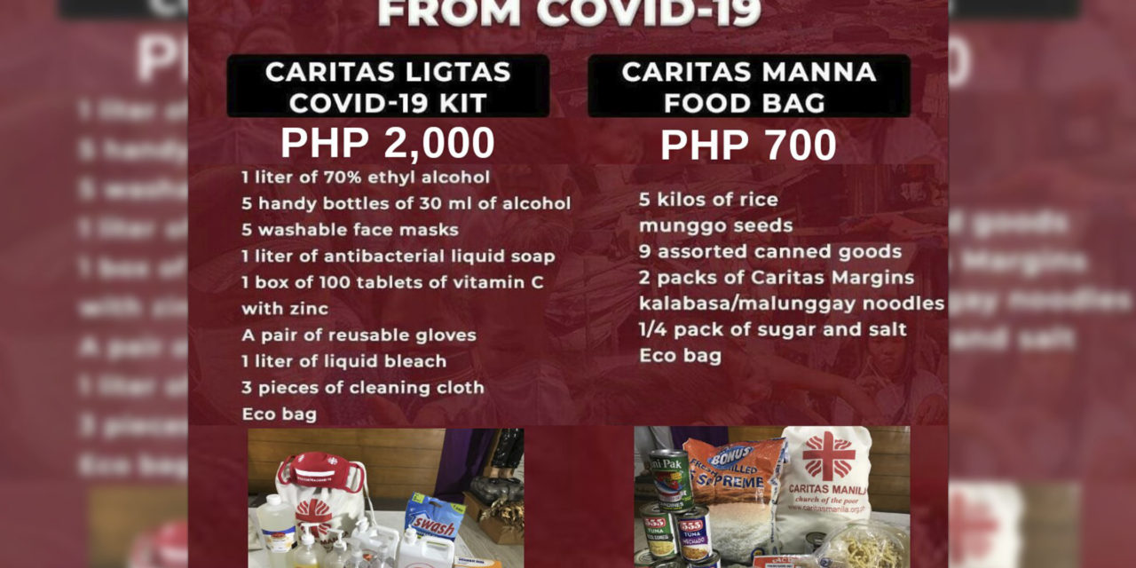 Caritas Manila provides Covid-19 safety kits to poor families