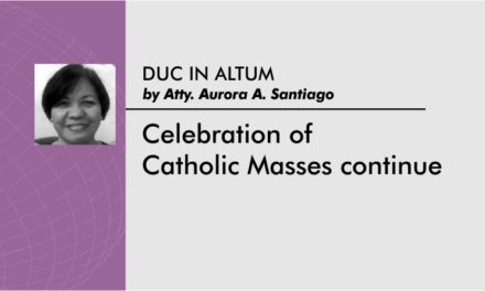 Celebration of Catholic Masses continue