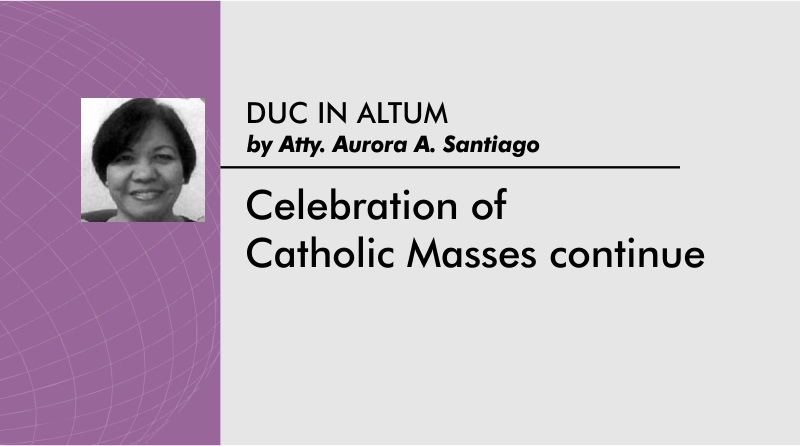 Celebration of Catholic Masses continue