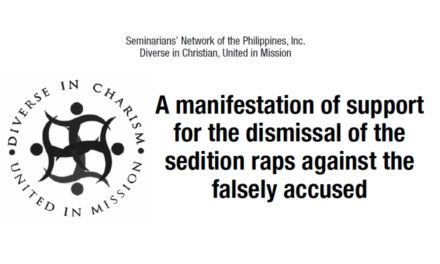 A Manifestation of Support for the Dismissal of the Sedition Raps against the Falsely Accused