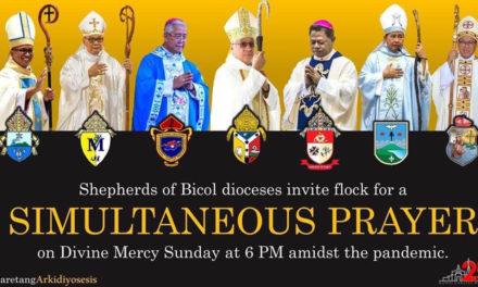 Bicol bishops push simultaneous prayer on April 19