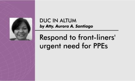 Respond to front-liners' urgent need for PPEs