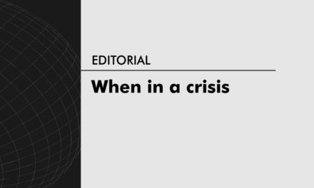 When in a crisis