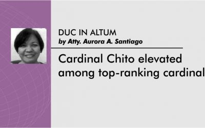 Cardinal Chito elevated among top-ranking cardinals