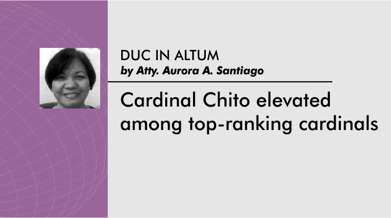 Cardinal Chito elevated among top-ranking cardinals