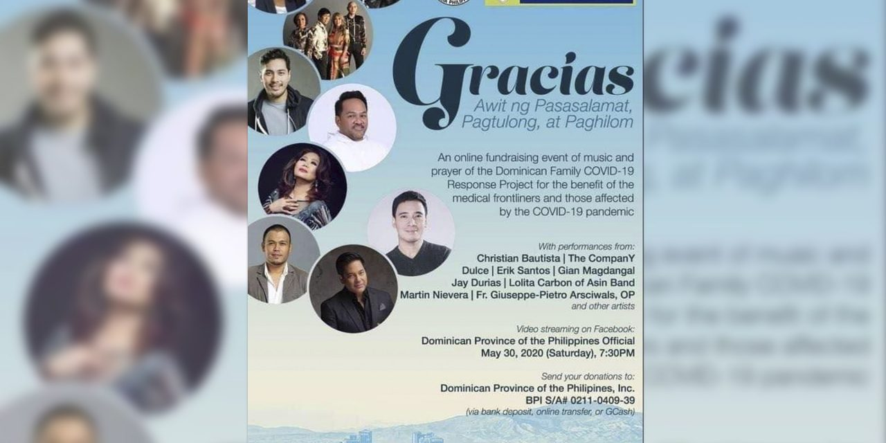 Virtual concert to benefit Covid-19 frontliners, poor families