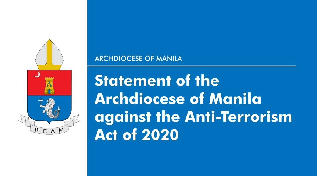 Statement of the Archdiocese of Manila against the  Anti-Terrorism Act of 2020
