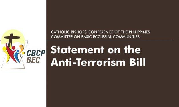 CBCP-BEC Statement on the Anti-Terrorism Bill