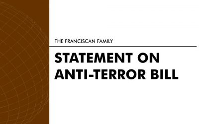 The Franciscan Family Statement on Anti-Terror  Bill