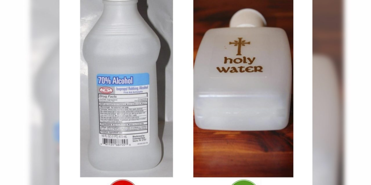 No such thing as 'holy alcohol', says archdiocese