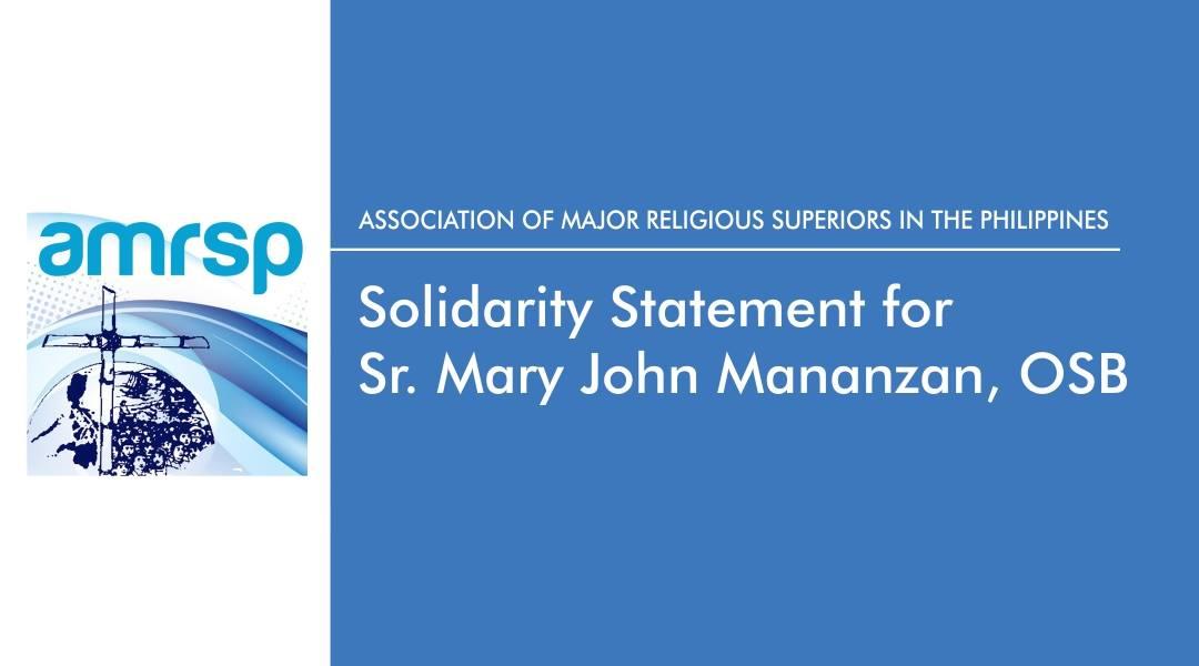 AMRSP solidarity statement for Sr. Mary John Mananzan