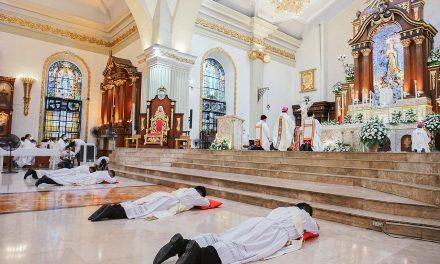 Bishop warns new priests against overconfidence