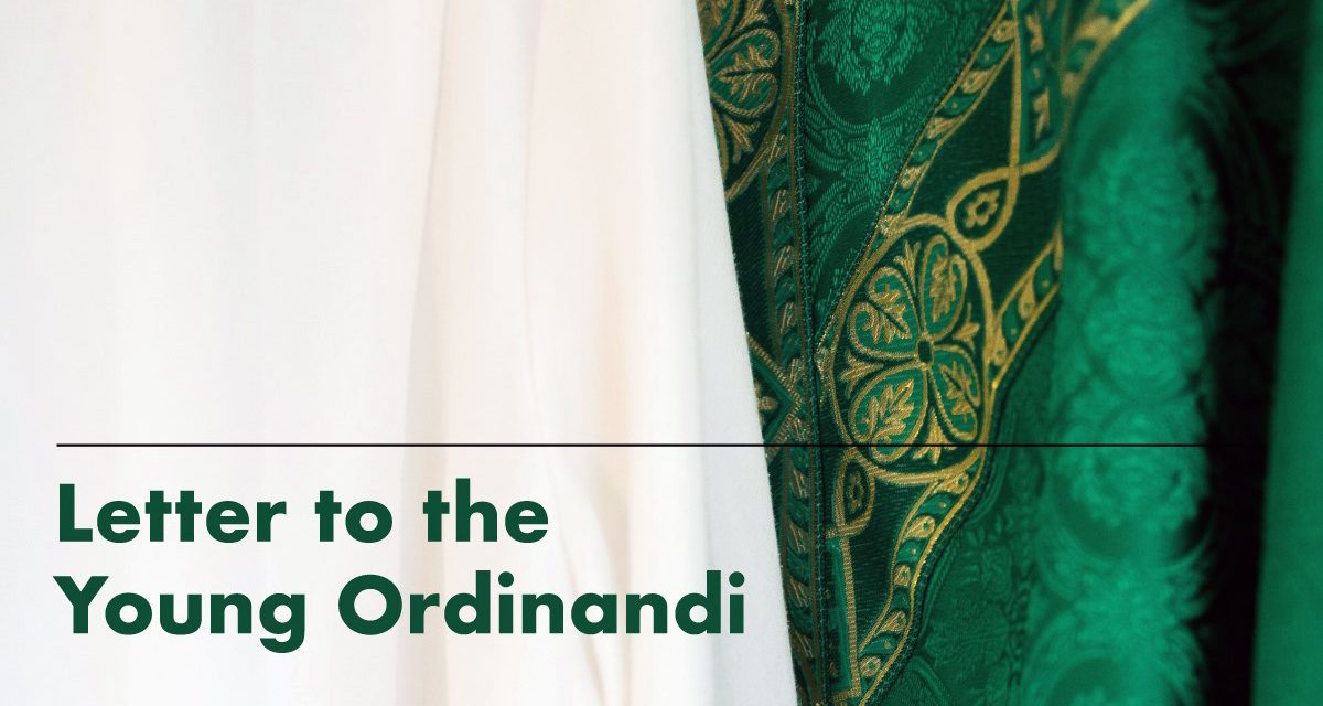 Letter to the young ordinandi