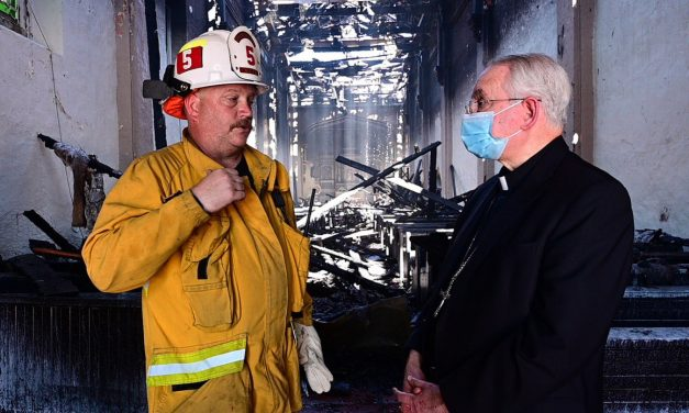 Mission founded by St. Junípero Serra burns in overnight fire