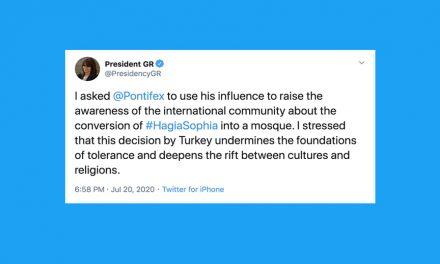Hagia Sophia: Greek president appeals to Pope Francis to put pressure on Turkey