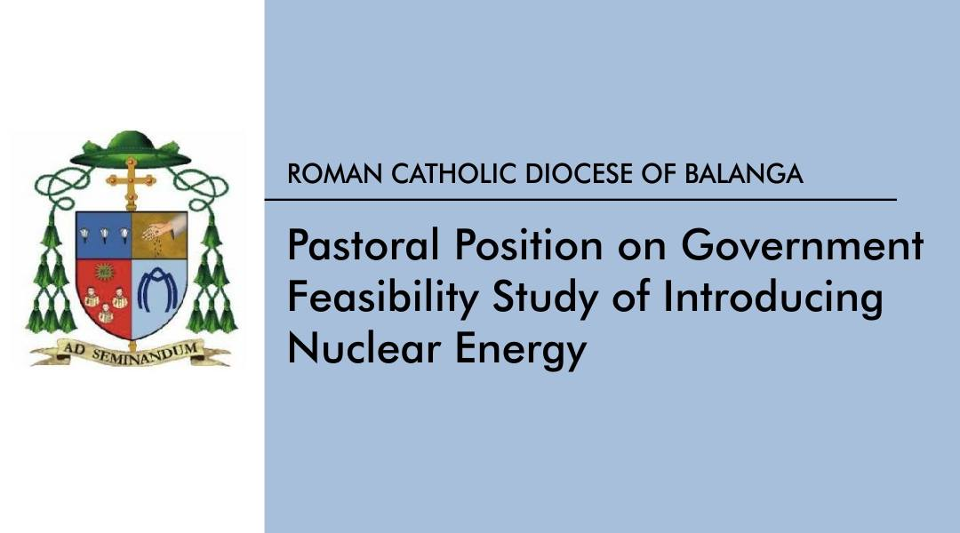 Pastoral position on gov't feasibility study of introducing nuclear energy