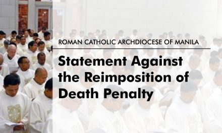 Archdiocese of Manila's Clergy Statement Against Death Penalty