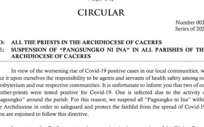 Caceres archdiocese: 2 priests test positive for Covid-19