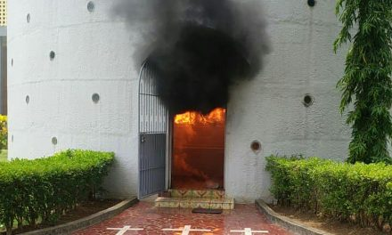 Nicaragua Catholic cathedral attacked with firebomb