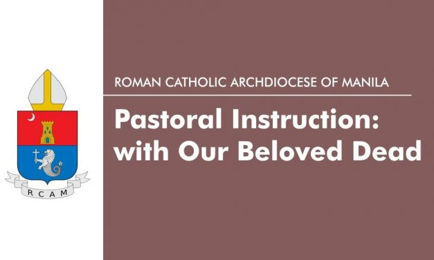 Pastoral Instruction: One with Our Beloved Dead