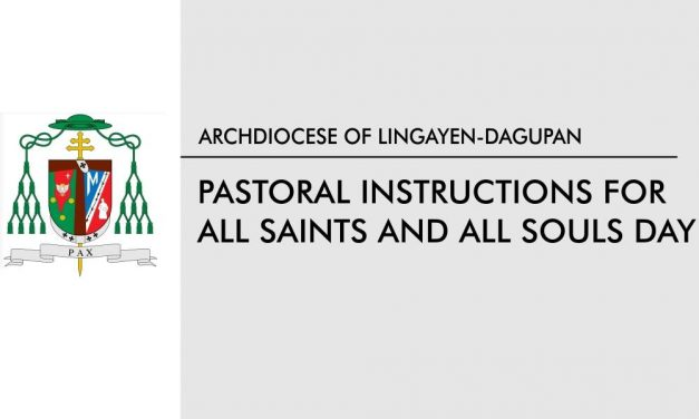 Pastoral Instructions for All Saints and All Souls Day
