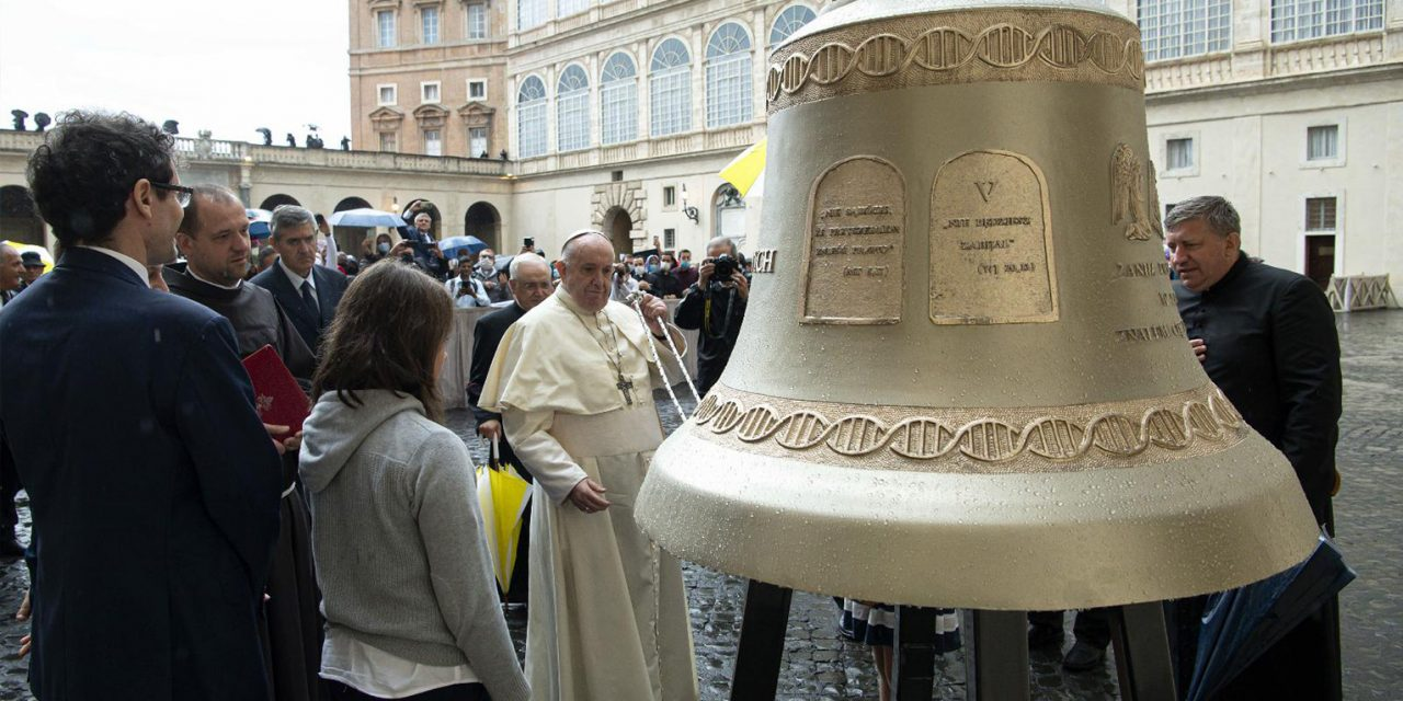 Pope Francis blesses bell that will ring out in defence of unborn