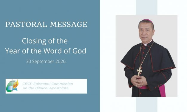 Pastoral message on closing of the Year of the Word of God