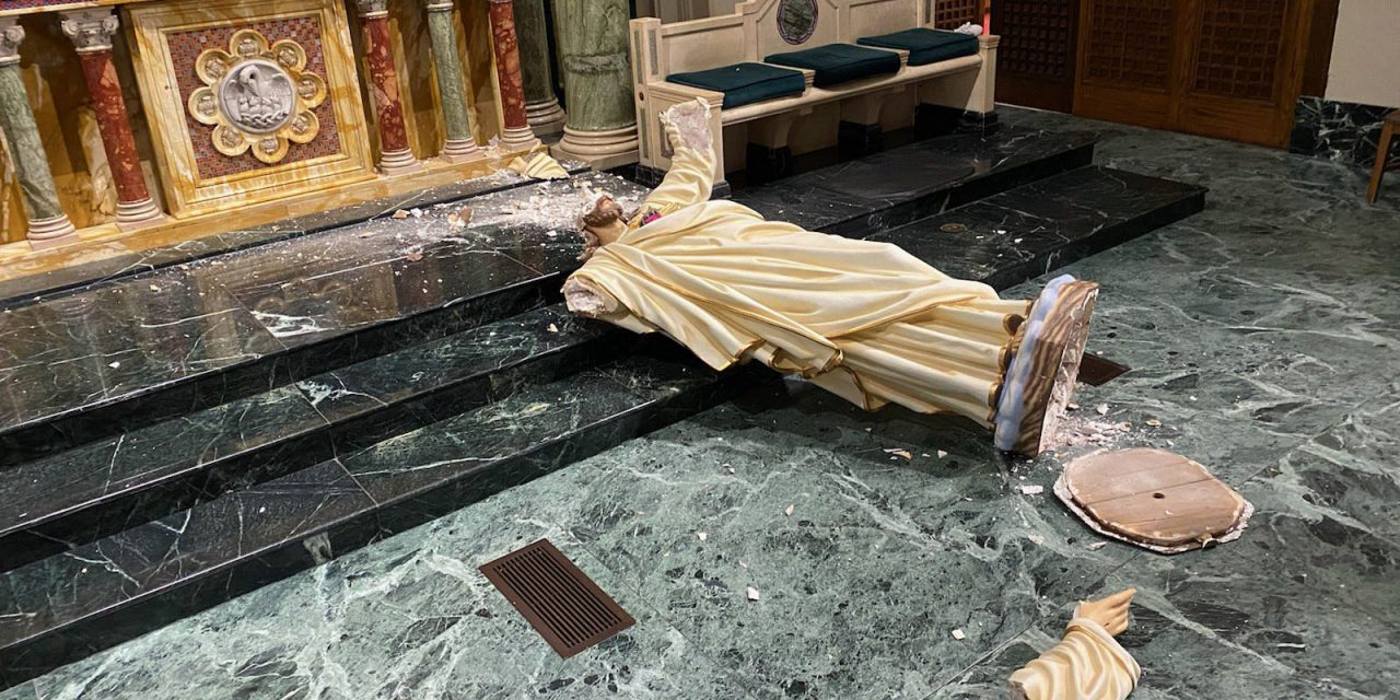 El Paso cathedral suffers vandalism attack