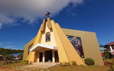 Homonhon parishioners celebrate dedication of new church