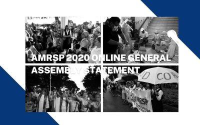 AMRSP 2020 Online General Assembly Statement