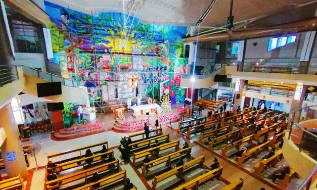 Novaliches parish creates 'biggest mural altar' in PH