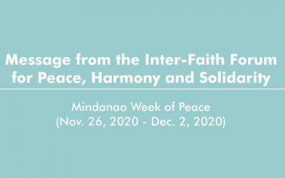 Dialogue towards harmony and a Covid-free society