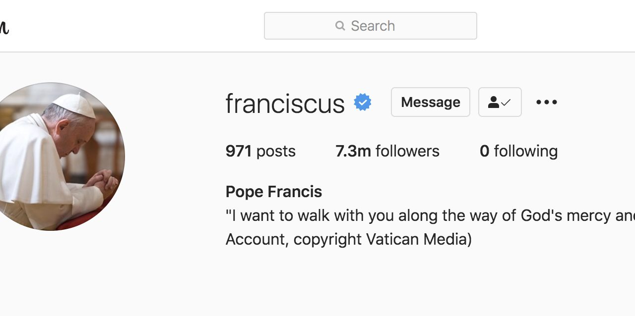 Vatican investigating racy Instagram 'like' by papal account