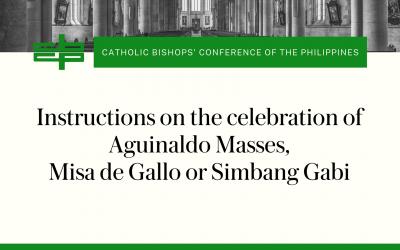 Instructions on the celebration of Aguinaldo Masses, Misa de Gallo or Simbang Gabi