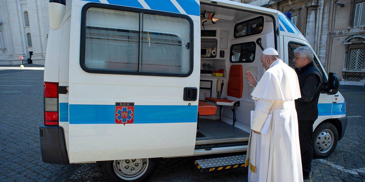Pope Francis' ambulance brings free flu shots and coronavirus tests to the homeless